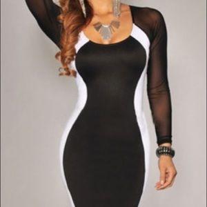 Ladies Hour-Glass Illusion Party Dress